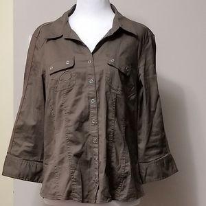 Reitmans 3/4 Sleeves Brown Blouses
